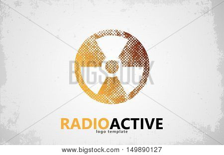 Nuclear logo. Radioactive logo design. Radiation symbol poster