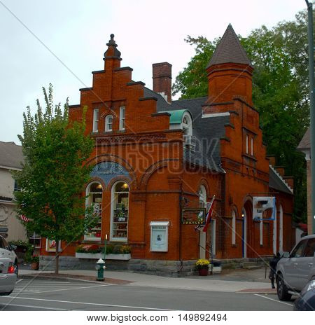 Town Office, Antique Building in Stockbridge Massachusetts.