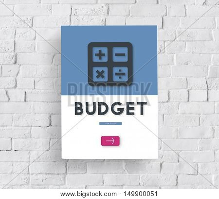 Budget Accounting Calculating Finance Concept