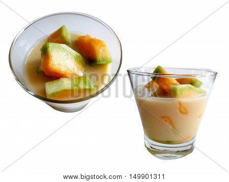 Point of view of Tang Tai coconut milk in glass
