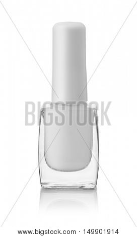 Bottle of cuticle remover gel isolated on white