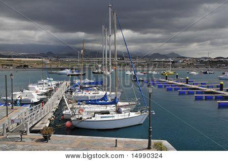 Port of La Galletas at Tenerife