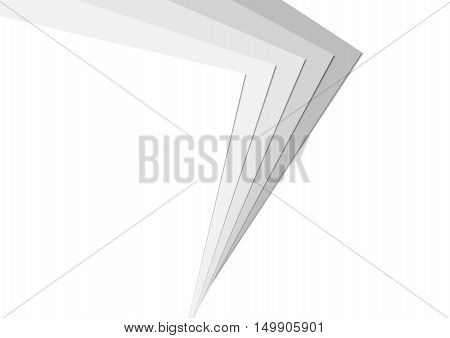 Stack Paper Greyscale Background Vector Illustration EPS10