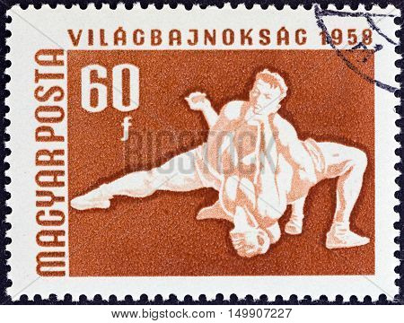 HUNGARY - CIRCA 1958: A stamp printed in Hungary from the