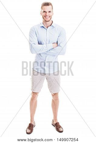 He Is So Confident! - Full Length Portrait Of A Sportive Young Man Standing With His Arms Crossed Is