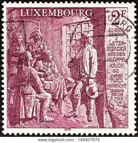 LUXEMBOURG - CIRCA 1979: A stamp printed in Luxembourg from the