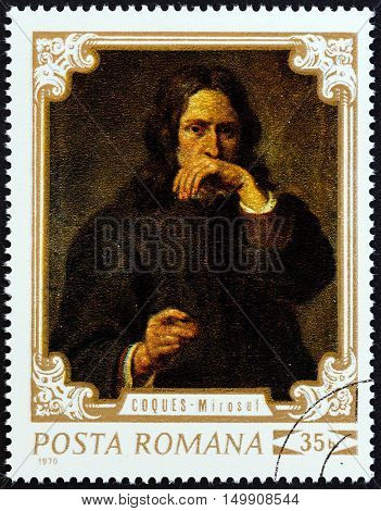 ROMANIA - CIRCA 1970: A stamp printed in Romania from the