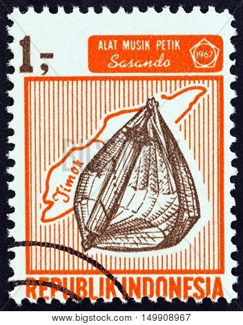 INDONESIA - CIRCA 1967: A stamp printed in Indonesia from the