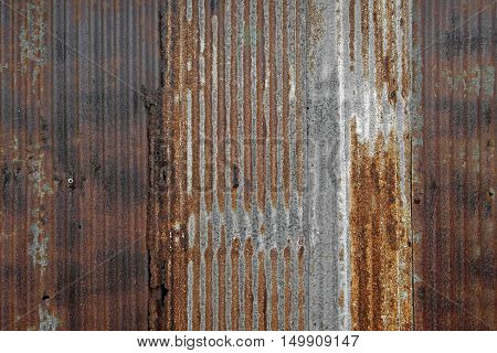 Rusty Corrugated Iron As Background