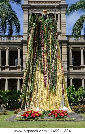 Statue Of King Kamehameha, Honolulu, Hawaii..