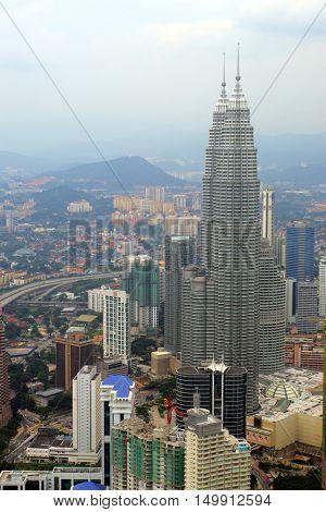 The Kuala Lumpur City Skyline ..