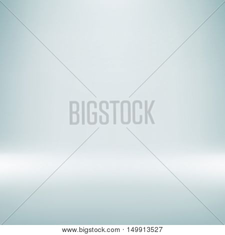 Studio photo background. Vector grey spotlight room backdrop. Light abstract gradient background