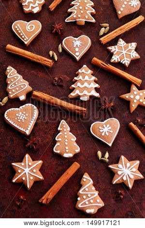 homemade lovely gingerbreads - sweet food