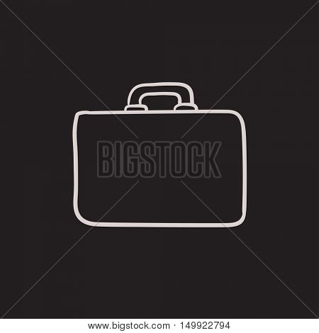 Briefcase vector sketch icon isolated on background. Hand drawn Briefcase icon. Briefcase sketch icon for infographic, website or app.
