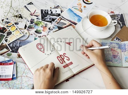 GPS Navigation Digital Technology Concept