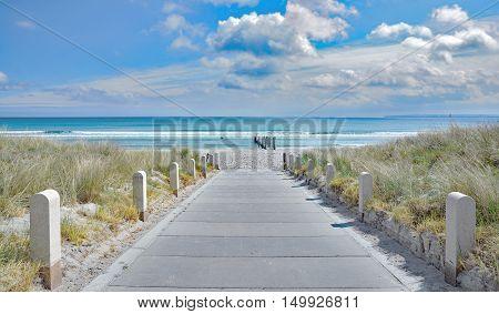 Beach of Juliusruh on Ruegen Island at baltic Sea,Mecklenburg western Pomerania,Germany