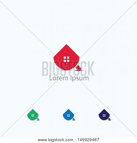 Home Inspection Logo Template, Search and find home or location