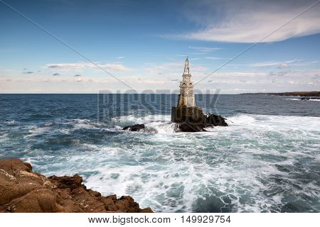 Lighthouse in the port of Ahtopol Black Sea Bulgaria