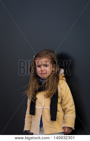 Beautiful Stylish Girl In A Black Background Walls
