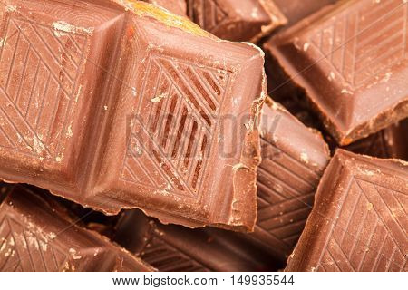 Broken Milk Chocolate Bar, Chocolate Bar Taken Closeup As Food Background, Abstract Chocolate Background, Texture Of Chocolate Bar, Bon Appetit, Sweet, Fresh And Tasty, Delicious, Yum-Yum, Yammy