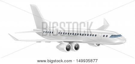 Airplane isolated on white. My Own Design