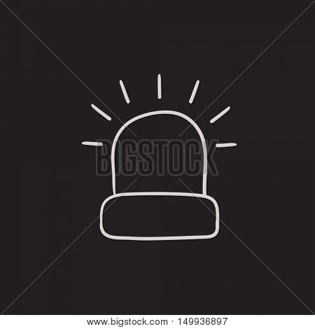 Siren light vector sketch icon isolated on background. Hand drawn Siren light icon. Siren light sketch icon for infographic, website or app.