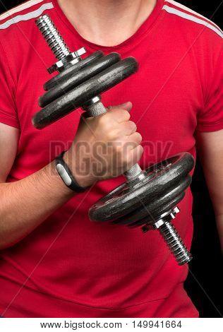 Athlete And Fitness Bracelet