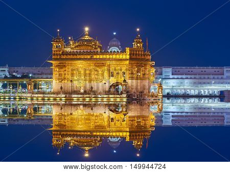 The Golden Temple, Located In Amritsar, Punjab, India.