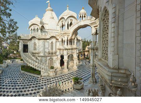 Iskcon Krishna Balaram Temple.vrindavan, Uttar-pradesh, India.
