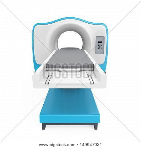 CT Scanner Tomography isolated on white background. 3D render poster