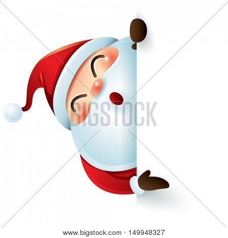 Santa Claus and sign