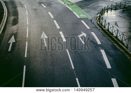 Aerial View Of A Street In Toulouse France Europe