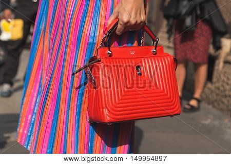 Detail Of Bag At Milan Fashion Week