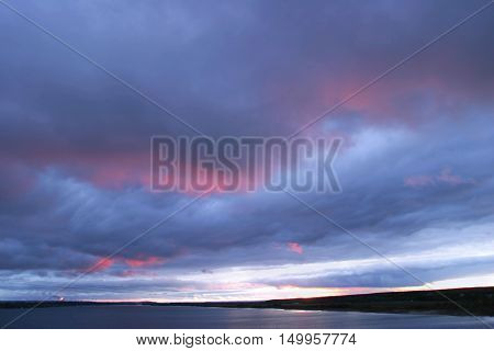 Heavy Clouds At Sunset
