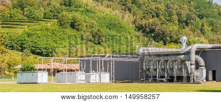 industrial system filtration and ventilation of a factory.
