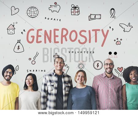 Generosity Donations Charity Foundation Support Concept