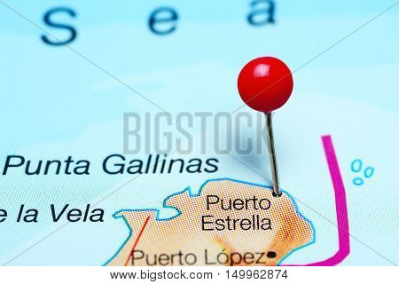 Puerto Estrella pinned on a map of Colombia