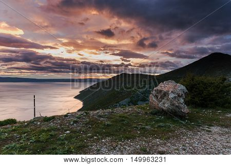 Dusk Over The Adriatic Sea, Cres Island