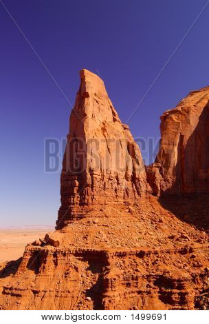 Pointed Rock In Monument Valley