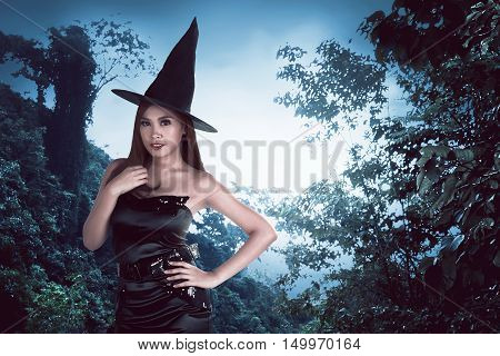 Young Asian Witch Woman