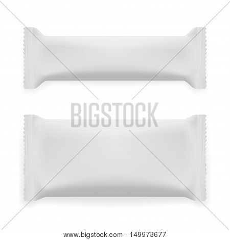 Two White Blank Foil Packaging Plastic Pack