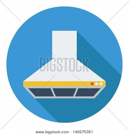 Exhaust hood icon in flat style isolated on white background. Kitchen symbol vector illustration.