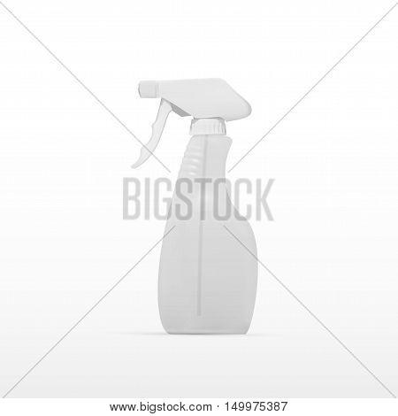 Transparent Spray Pistol Cleaner Plastic Bottle. EPS10 Vector