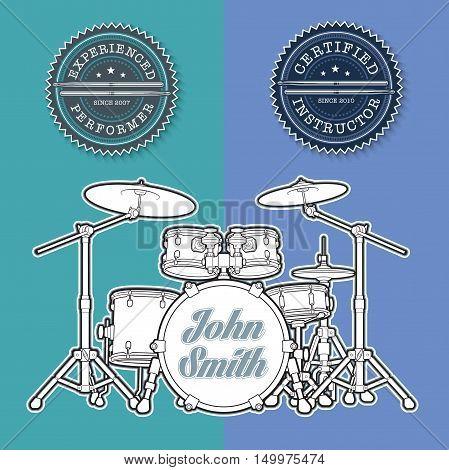 Drum Kit N Instructor - Performer Stamps