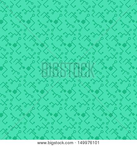 Computer Processor Chip Seamless Pattern