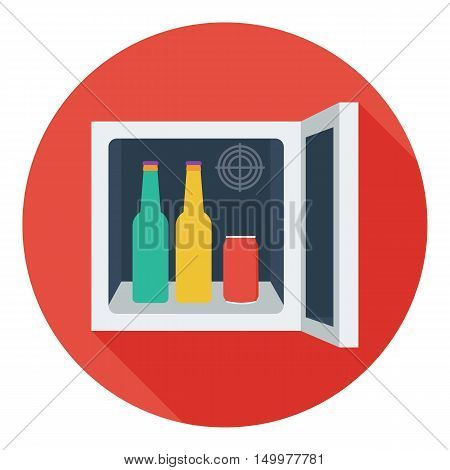 Mini-bar icon in flat style isolated on white background. Kitchen symbol vector illustration.