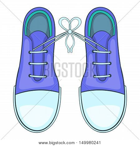 Tied shoes joke icon in cartoon style isolated on white background vector illustration