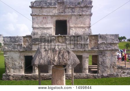 Church in the city of Mayen city of Tulum. Located in Southern Mexico poster