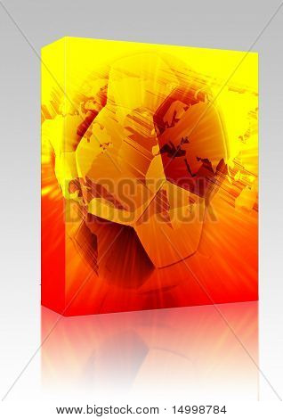 Software package box International wordlwide modern soccer ball abstract wallpaper background