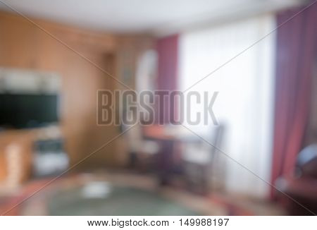 blurred background, defocused living room